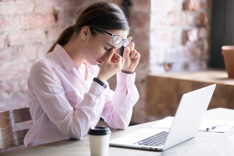 Getting massage to reduce eye pressure